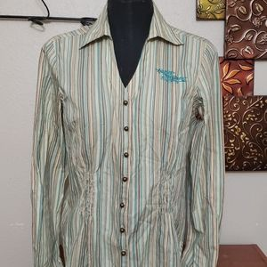 Small harley davidson button down shirt